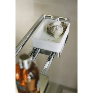 Brushed Nickel Rail bath towel holder 800 mm