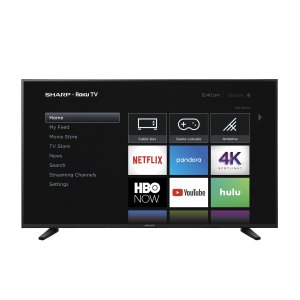 "Sharp58"" Class (57.5"" diag.) 4K Sharp Roku TV with HDR"