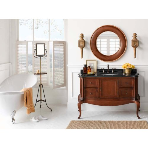 "Chardonnay 53"" Bathroom Vanity Cabinet Base in Colonial Cherry"