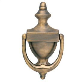 Satin Brass and Black Colonial Knocker