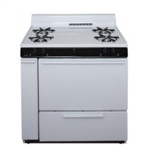 36 in. Freestanding Gas Range in White