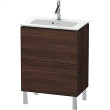 Vanity Unit Floorstanding Compact, Chestnut Dark (decor)