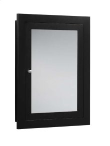 """Neo-Classic 24"""" x 32"""" Solid Wood Framed Medicine Cabinet in Black"""
