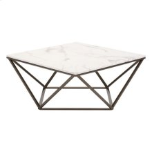Tintern Coffee Table Stone & Stone & Antique Brass
