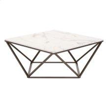 Tintern Coffee Table Stone & Stone & Antique Brass