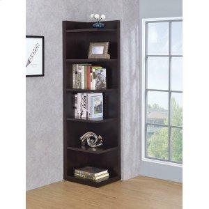 CoasterTransitional Cappuccino Corner Bookcase