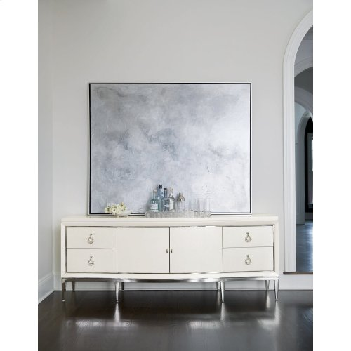 Calista Entertainment Console in Silken Pearl (388)