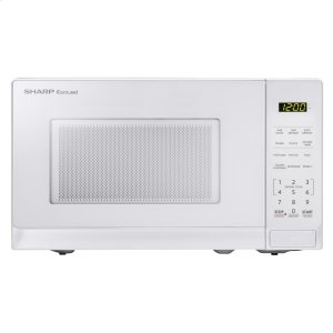 Sharp0.7 cu. ft. 700W Sharp White Carousel Countertop Microwave Oven