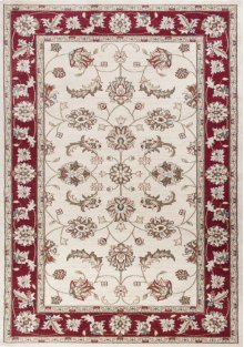 "Avalon 5613 Ivory/red Mahal 5'3"" X 7'7"""