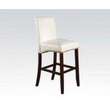 White Pu Counter H. Chair