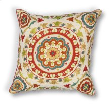 "L174 Red Suzani Pillow 18"" X 18"""