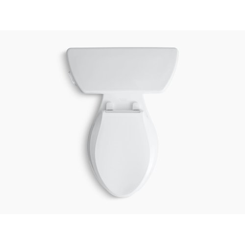 White Two-piece Elongated 1.28 Gpf Toilet With Class Five Flush Technology and Left-hand Trip Lever, Seat Not Included