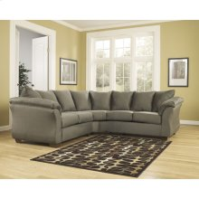 Signature Design by Ashley Darcy Sectional in Sage Microfiber