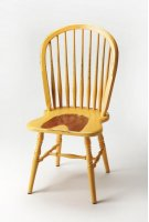 Bring farmhouse charm to your dining room or office space with this classic Windsor back side chair. Crafted from mahogany wood solids with a spindle-back design, it features an aged yellow heirloom finish. Product Image