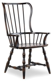 Dining Room Sanctuary Spindle Arm Chair-Ebony