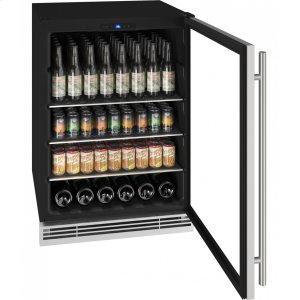 "U-Line24"" Beverage Center With Stainless Frame Finish (115 V/60 Hz Volts /60 Hz Hz)"