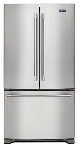 Maytag(R) 36- Inch Wide Counter Depth French Door Refrigerator - 20 Cu. Ft.