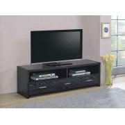 Contemporary Black Oak TV Console Product Image