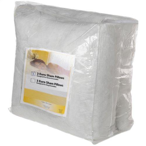SleepSense 26-Inch Euro Stuffer Bed Pillow Insert, 2-Pack