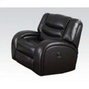 Black Bonded Recliner @n Product Image