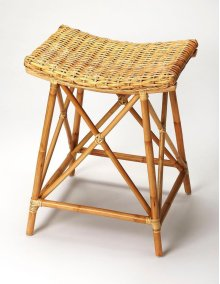 Bring the ambiance of a tropical getaway to your kitchen, bar or work space with this transitional rattan counter stool. Fully crafted from rattan, its kubu rattan seat has the appearance of a woven basket supported by rattan pole legs, footrests and stre