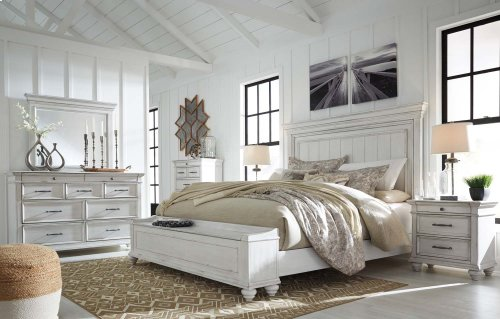 Kanwyn - Whitewash 3 Piece Bed Set (King)