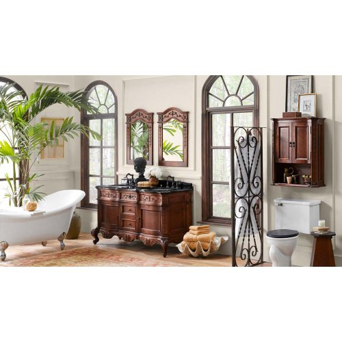 "Bordeaux 60"" Bathroom Vanity Cabinet Base in Colonial Cherry"