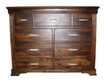 Turin 9 Dwr Dresser Chestnut