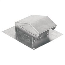 "Roof Cap, Aluminum, for 3"" or 4"" Round Duct"