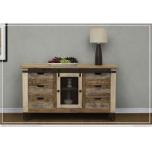 "60"" TV Stand 6 Drawer, 1 Door"