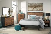 Stavani - Black/Brown 2 Piece Bed Set (Queen)