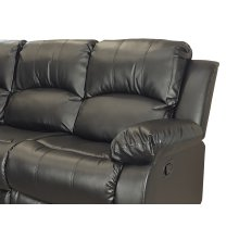 Kaden Black Bonded Leather Recliner Chair