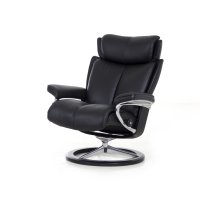 Stressless Magic Large Signature Base Chair and Ottoman Product Image