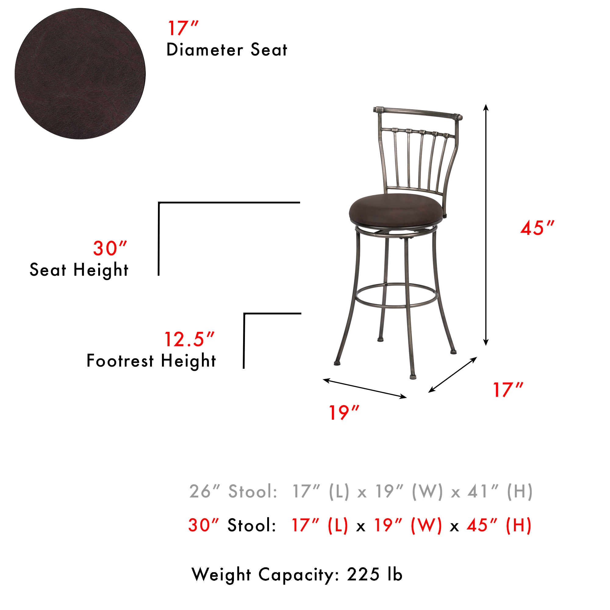 Miraculous C1M020Fashion Bed Group Topeka Swivel Seat Bar Stool With Uwap Interior Chair Design Uwaporg