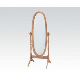 Wood Stand Mirror Oak