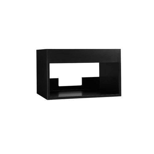 "Catalina 22"" Wall Mount Bathroom Vanity Base Cabinet in Black"