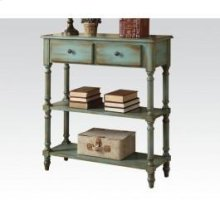 Antique Green Console Table
