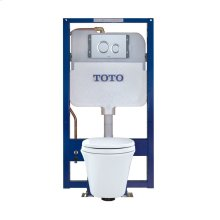 Maris® Wall-Hung Toilet & DUOFIT In-Wall Tank System, 1.6 GPF & 0.9 GPF, Elongated Bowl - Matte Silver