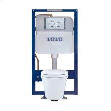 Maris® Wall-Hung Toilet & DUOFIT In-Wall Tank System, 1.6 GPF & 0.9 GPF, Elongated Bowl - Matte Silver