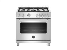 36 inch All Gas Range, 5 Burners Stainless