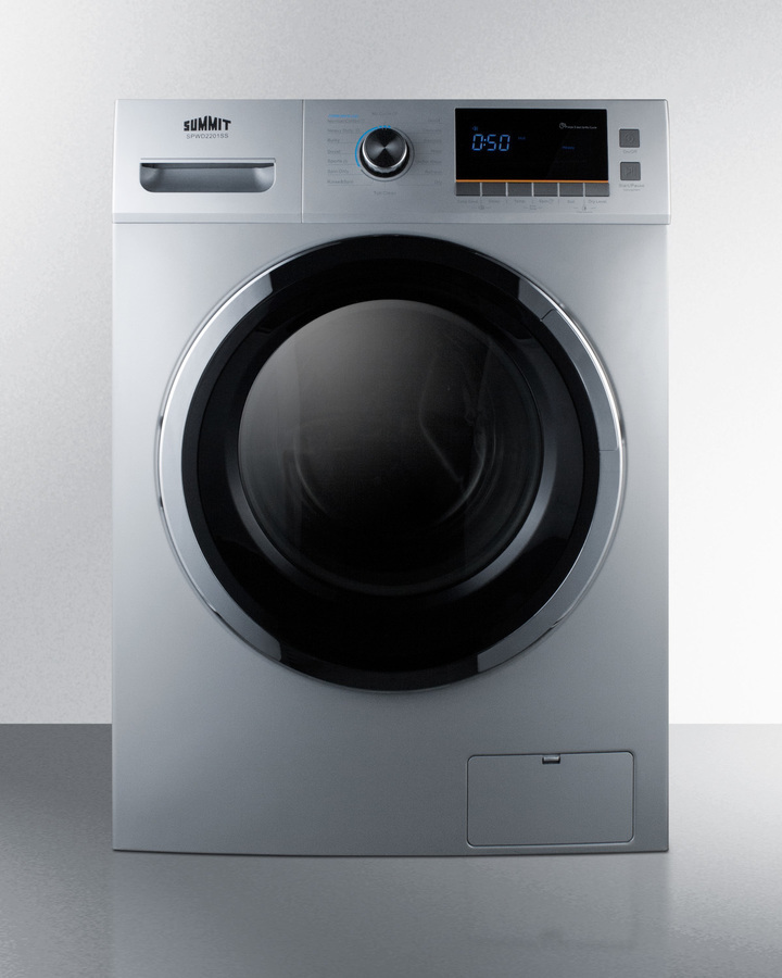 """Summit24"""" Wide 115v Washer/dryer Combo For Non-Vented Use In Platinum Finish"""