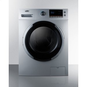 "Summit24"" Wide 115v Washer/dryer Combo for Non-vented Use In Platinum Finish"