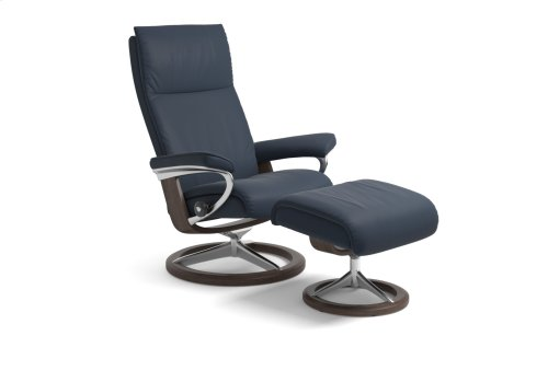 Stressless Aura Small Signature Base Chair and Ottoman