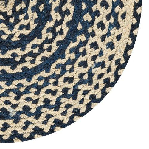LM-Navy Classic Wool Braid Navy Braided Rugs