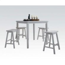 White 5pc Pack Cntr Set