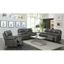 Ravenna Casual Charcoal Power Sofa