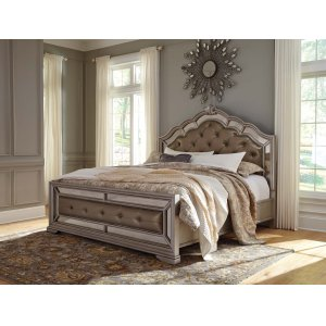 Ashley Furniture Birlanny - Silver 3 Piece Bed Set (Cal King)