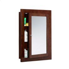 "Neo-Classic 24"" x 32"" Solid Wood Framed Medicine Cabinet in Dark Cherry"