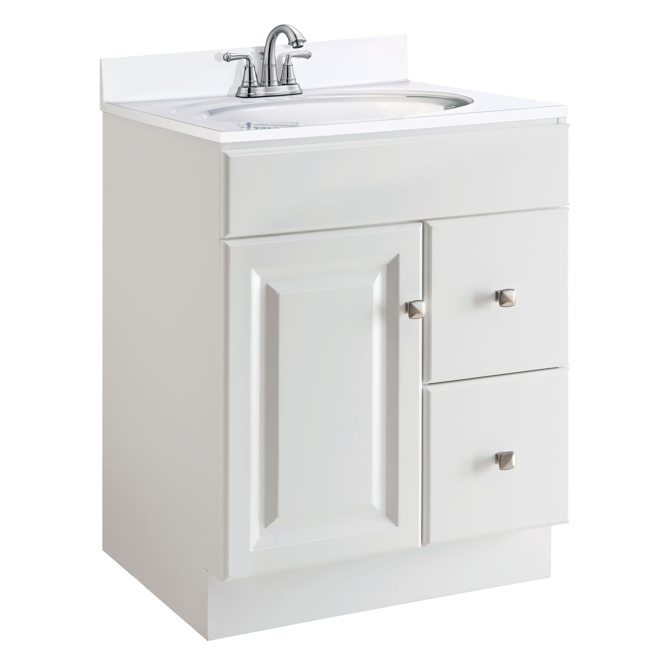 "Wyndham 1-Door 2-Drawers 24"" Vanity, White #545053"