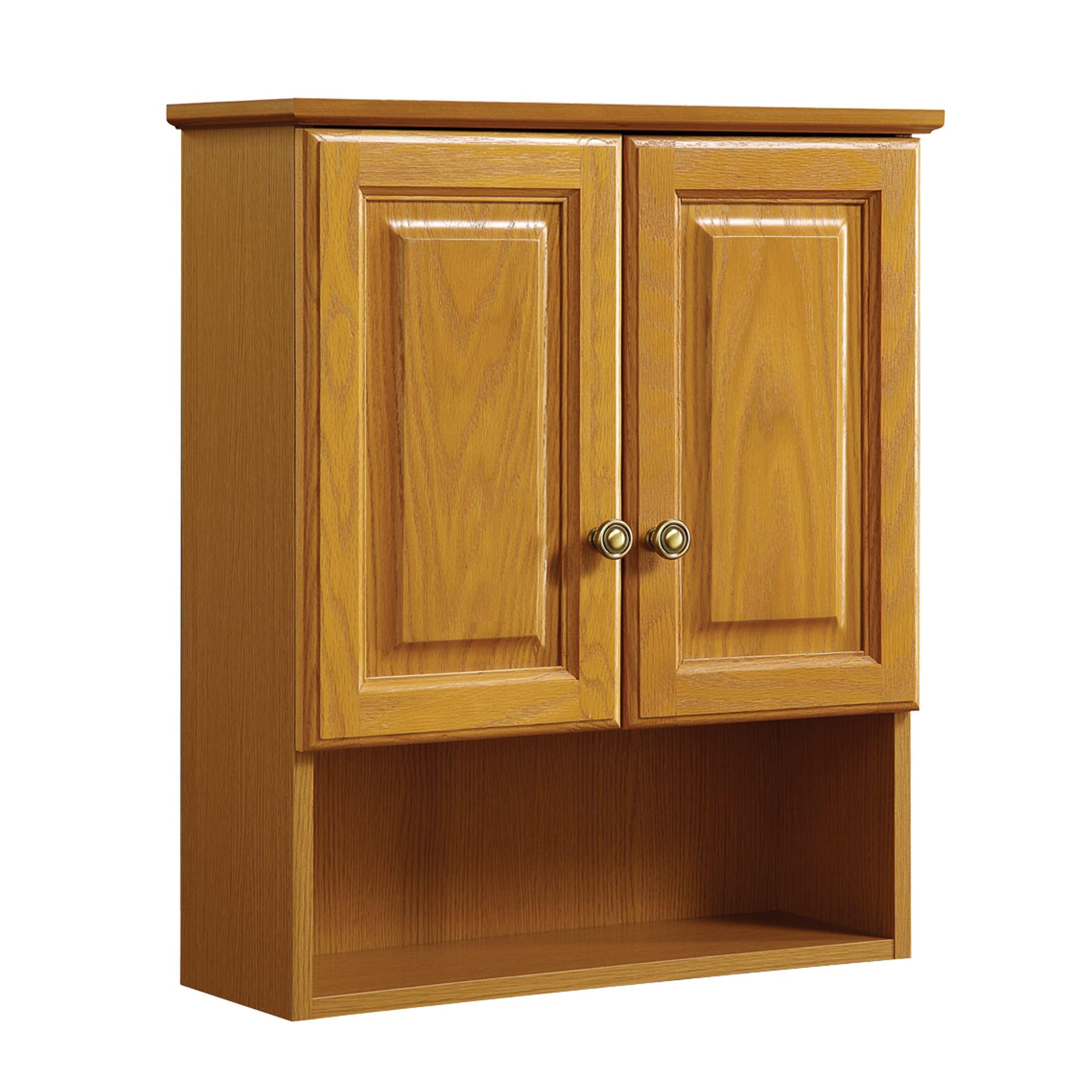 """Claremont 2-Door Wall Cabinet 21"""", Honey Oak #531962"""